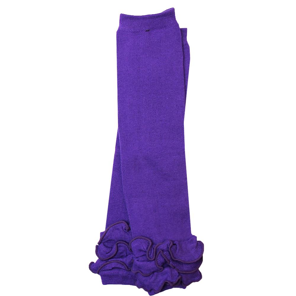 Purple Triple Ruffle Leg Warmers