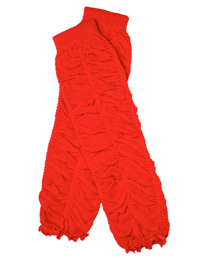 Red Rouched Leg Warmers