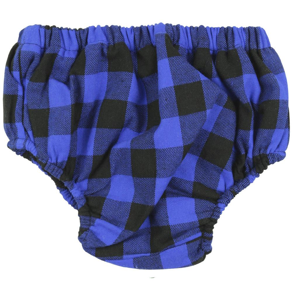 Blue Buffalo Plaid Diaper Cover