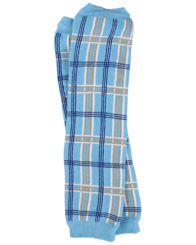 Blue Plaid Leg Warmers (newborn)