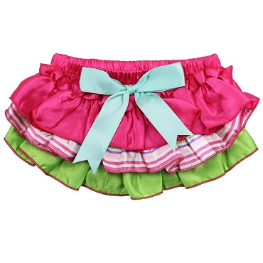 Garden Party Ruffle Satin Diaper Cover