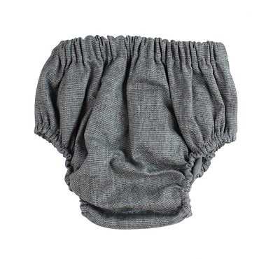 Gray Chambray Diaper Cover