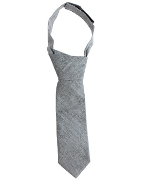 Gray Chambray Neck Tie