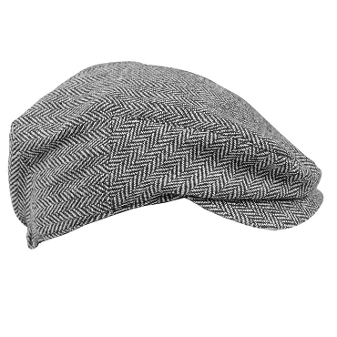 Gray Tweed Cabbie Hat