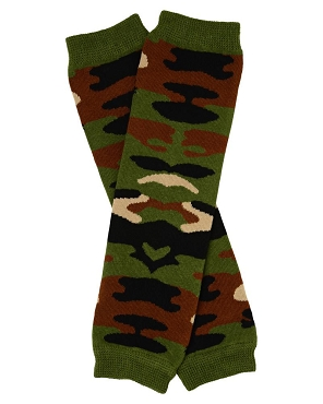 Green Camouflage Leg Warmers