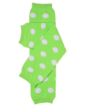 Green Polka Dot Leg Warmers