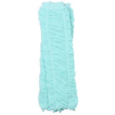 Heavenly Aqua Rouched Leg Warmers