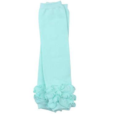 Heavenly Aqua Triple Ruffle Leg Warmers
