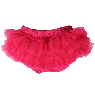Hot Pink Chiffon Tutu Diaper Cover