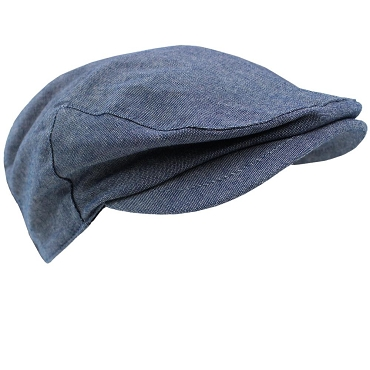 Jean Chambray Cabbie Hat