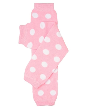 Light Pink Polka Dot Leg Warmers