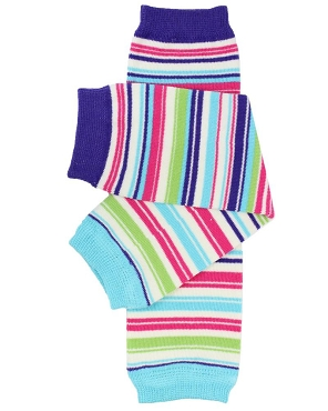 Linear Stripe Leg Warmers (newborn)