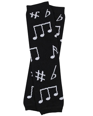 Make Your Own Music Leg Warmers (newborn)