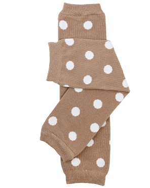 Light Brown Polka Dot Leg Warmers