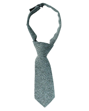 Navy and Gray Tweed Neck Tie