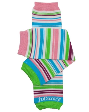 Playful Stripe Organic Leg Warmers