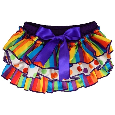 Really Rainbow Satin Diaper Cover