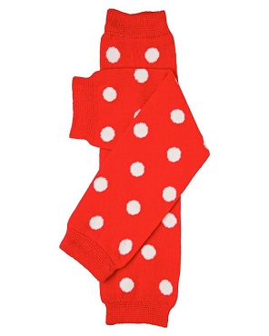 Red Polka Dot Leg Warmers