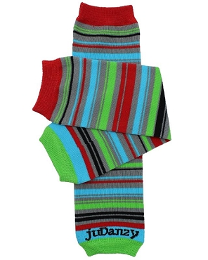Sprightly Stripe Organic Leg Warmers