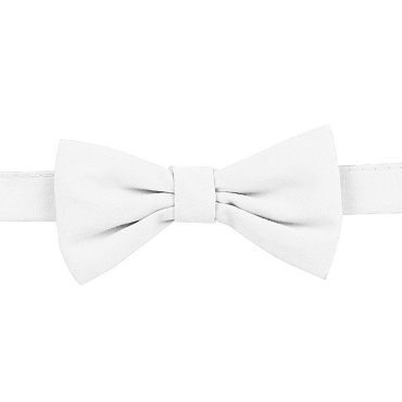 White Chambray Bow Tie