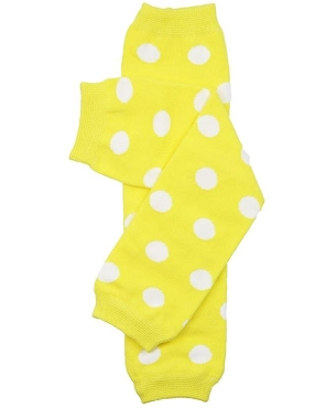 Yellow Polka Dot Leg Warmers