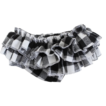 Black and White Buffalo Plaid Tutu Diaper Cover