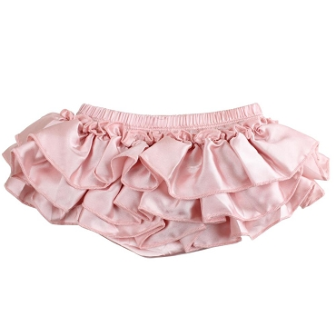 Blush Satin Tutu Diaper Cover