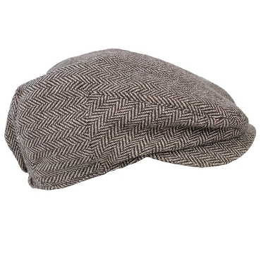 Brown Tweed Cabbie Hat