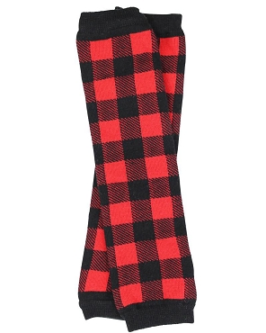 Buffalo Plaid Leg Warmers