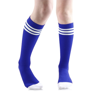 Blue with White Stripes Tube Socks