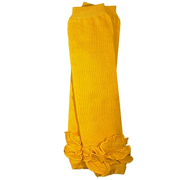 Mustard Yellow Triple Ruffle Leg Warmers