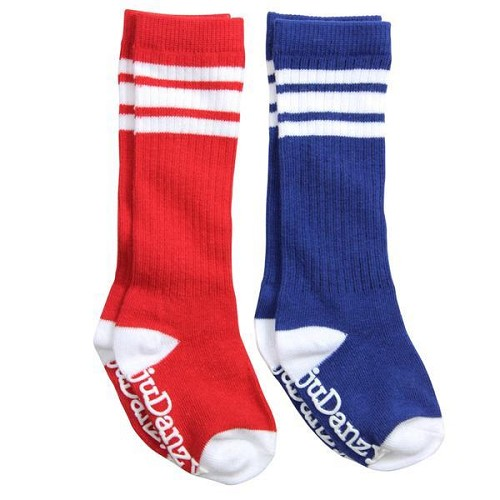 Red and Blue with White Stripes Tube Socks