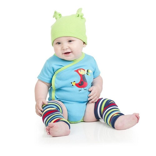Toucan Stripe Leg Warmers (newborn)