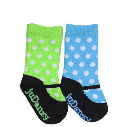 Turquoise and Lime Mary Jane Socks