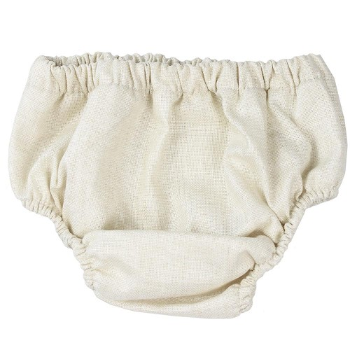 Cream Chambray Diaper Cover